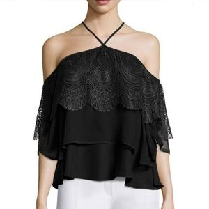 NWT Anthro| Cinq a Sept  Fleur Tiered Lace top